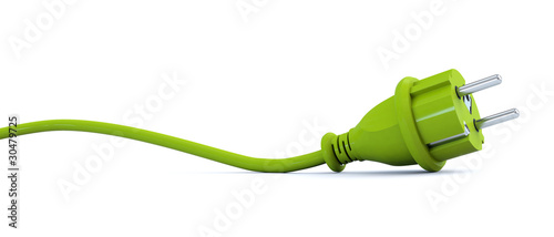 Green power plug - curve - 30479725