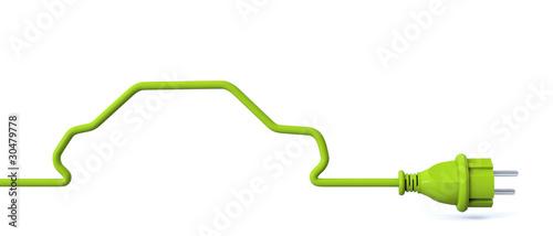 Green power plug - car