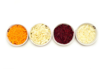 ingridients for borscht in a bowl