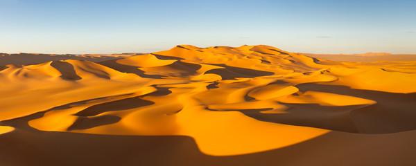 Desert Panorama - Sand Dunes - Murzuq Desert, Sahara, Libya
