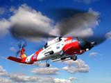 Helicopter coast guard Jayhawk
