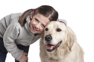 bimba con cane
