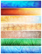 Creative design, nature theme vector banners. eps10
