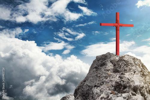 Leinwandbild Motiv Gipfelkreuz