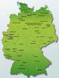 Deutschland Übersichtskarte grün