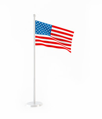 3D flag of USA