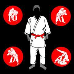 Judo fighter vector