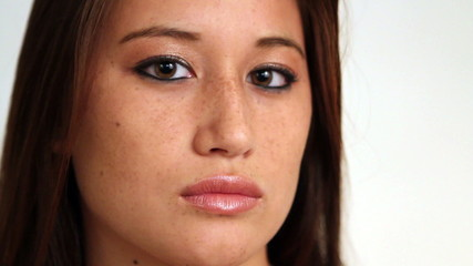 Asian American Girl Serious