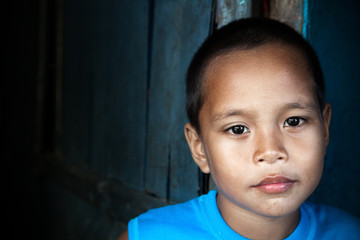 Asian boy portrait in the Philippines