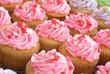 Pink Valentine Cupcakes with Sprinkles
