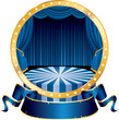 blue circus circle