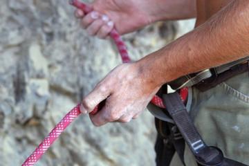 Climbers hands