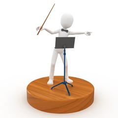 3d man conductor leader