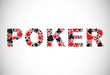Poker. Abstract background. Vector illustration.