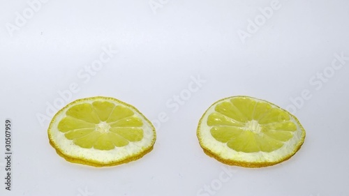 Two fresh lemon