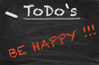 Be happy Chalkboard