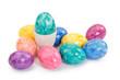 bunte Eier und eines im Becher