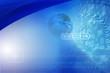 Digital space -  digital background with blue globe