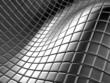 Abstract aluminium silver square