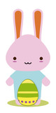 easter bunny kawaii style for season poster