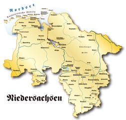 Niedersachsen Übersicht gold