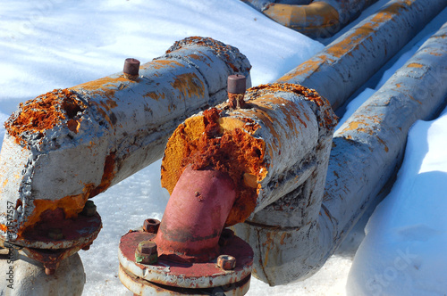 rusty decayed pipes - 30517557