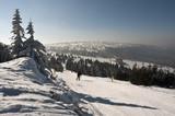 Fototapety Na stoku narciarskim