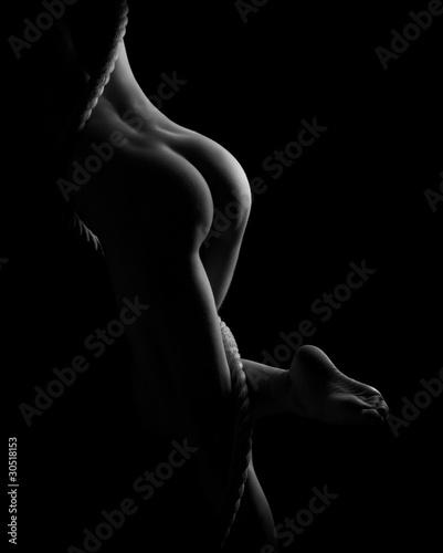 Zdjęcia na płótnie, fototapety na wymiar, obrazy na ścianę : erotic body parts, legs, butts, and rope