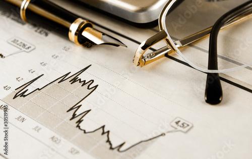 imagen de negocios con objetos de banca y estadistica