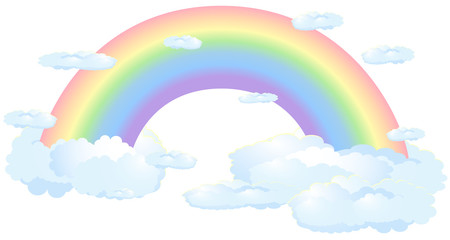 Rainbow on white background