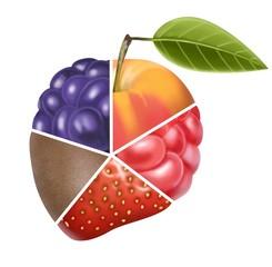 puzzle di frutta