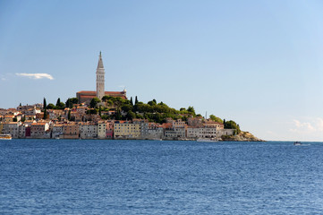 Croatia -  Rovinj - Old city and mediterranean sea