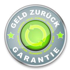 Button Geld Zurück Garantie grau grün