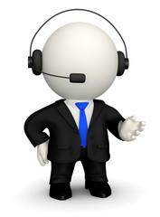 3D Customer support operator
