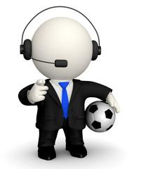 3D Football commentator