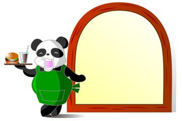 パンダの給仕 レストラン