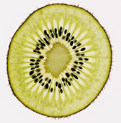 Close up of kiwi slice