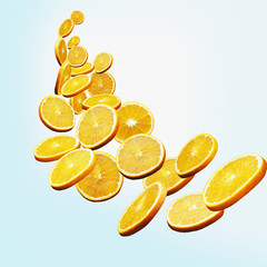Floating orange slices