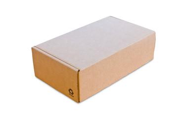 blank cardbox isolated on white background