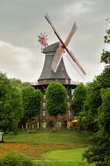 Windmill in Bremen Park, Germany