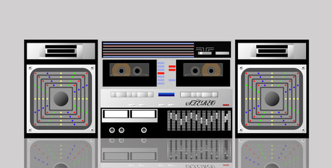 Old cassette player.