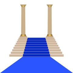 Voie royale en bleu