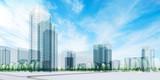 City under sky