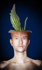Cactus man blue