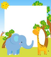 animal and frame
