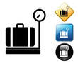 Luggage weighing pictogram and signs