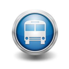 Icono borde metalico autobus
