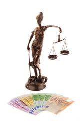 Justitia und Euro.
