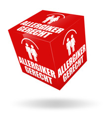 allergikergerecht button icon allergie 3d