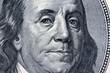 Dollar Geldscheine. Detail. Franklin